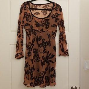NWOT long sleeve sheer dress with inside liner